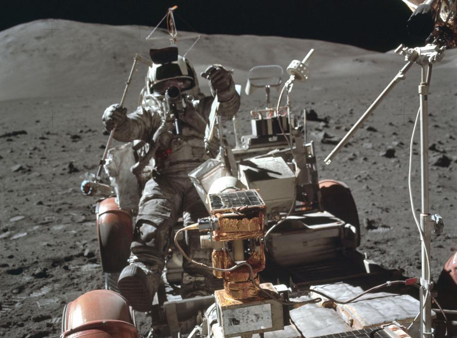 Apolo 17 EVA, en diciembre de 1972. (Foto: Nasa)