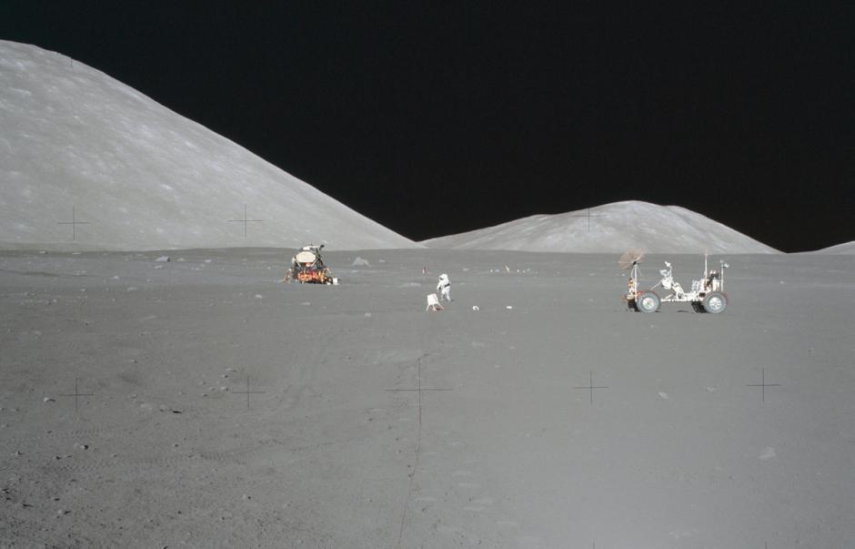 Paisaje desde el Apolo 17 en diciembre de 1972. (Foto: Nasa)