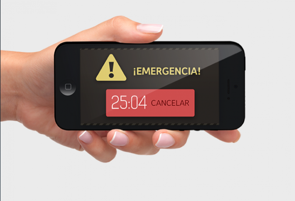 La app utiliza el giroscopio de tu iPhone para detectar si tu Xkuty ha tenido un accidente y llamar automáticamente al número de teléfono que tú elijas.