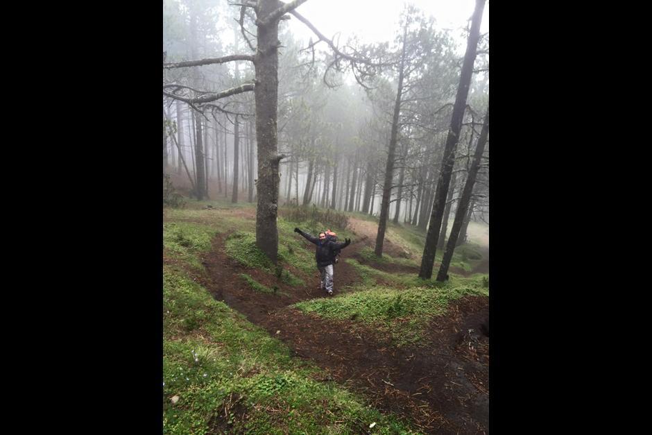 En redes sociales se compartieron fotos del montañista. (Foto: Facebook/ Guate Tour)