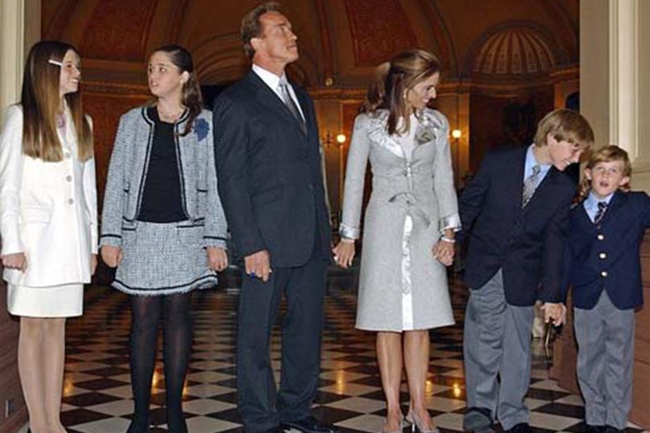 Arnold Schwarzenegger, su ex Maria Shriver y los hijos de ese matrimonio. (Foto: Archivo)
