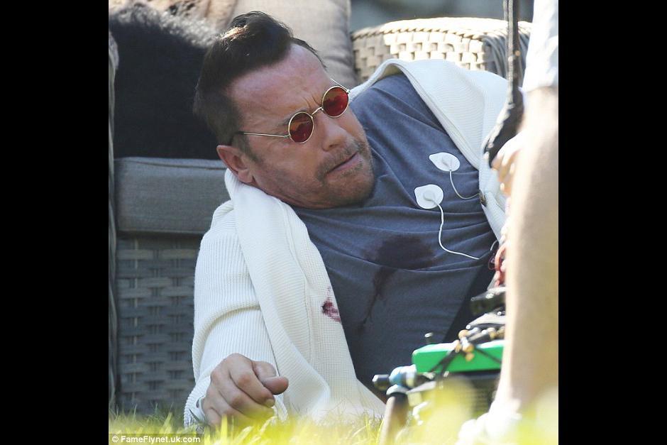Arnold aparece en una de las escenas con una bomba en el cuerpo. (Foto: dailymail)