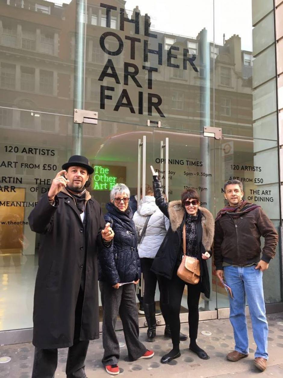 Los artistas guatemaltecos mostraron piezas en The other art Fair. (Foto: Carlso Rafael Anzueto)