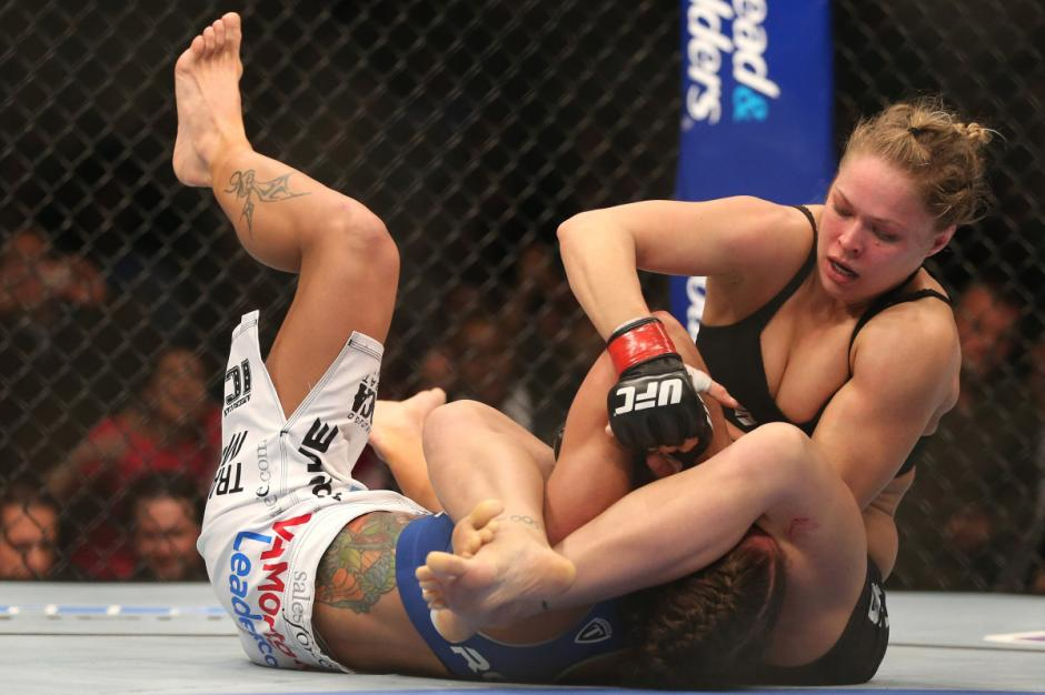 La estadounidense es una luchadora imbatible en la UFC. (Foto: artesmarciales.cl)
