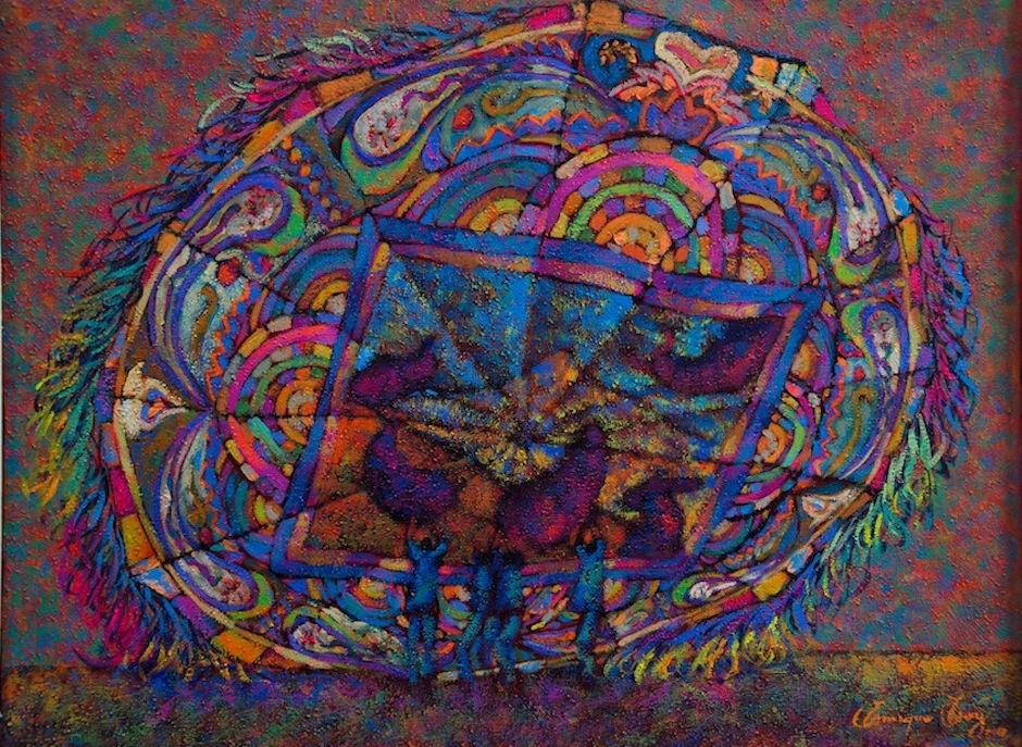 El artista plástico Enrique Cay es parte de este colectivo. (Foto: Selene Mejía/Soy502)