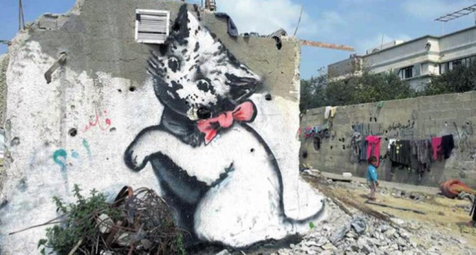 Los murales nacen como parte de los proyectos del OOPS realiza en Gaza. (Foto: AFP)