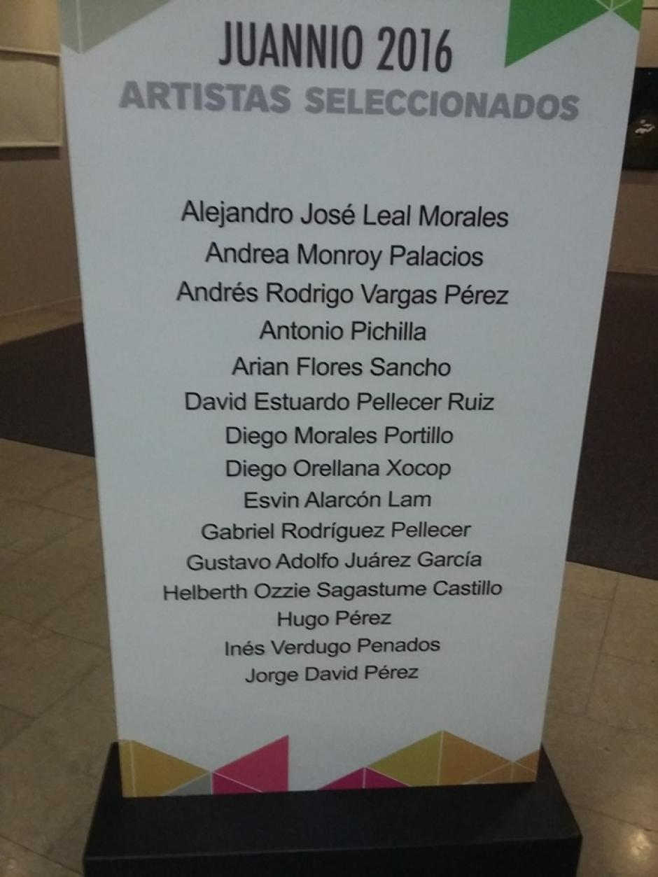 Demás artistas seleccionados para la subasta Juannio 2016. (Foto: Quique Lee)
