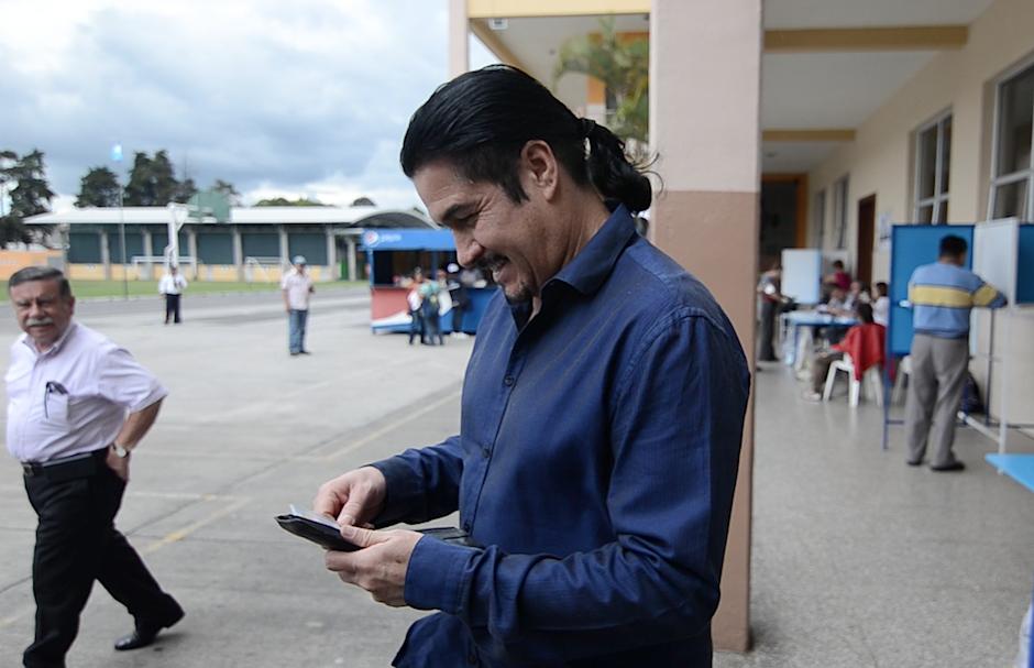 Aguilar se sintió satisfecho cumpliendo su responsabilida cívica. (Foto: Selene Mejía/Soy502)