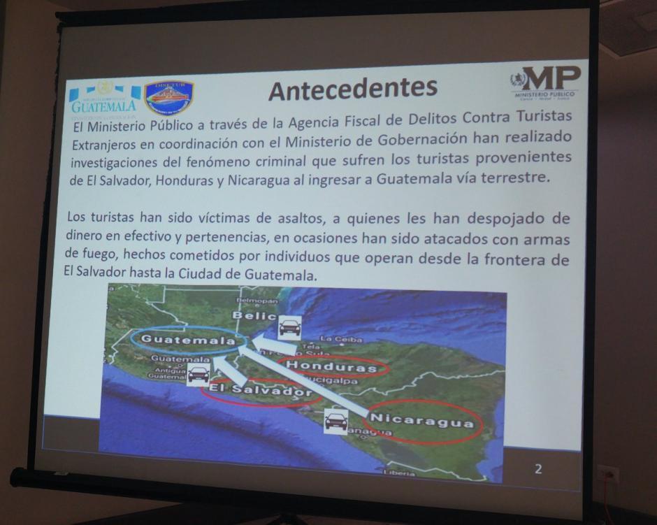 Un video permitió individualizar a los sindicados en el caso, según informó el MP.  (Foto: @MPguatemala)