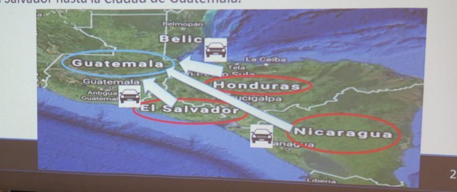 Las autoridades mostraron los lugares en los que operaba la supuesta banda de asaltantes. (Foto: @MPguatemala)