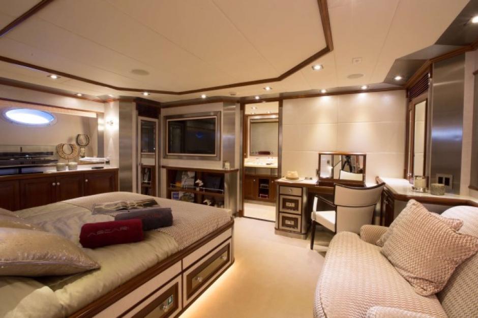 CR7 descansa en la habitación principal de Ascari. (Foto: TN)