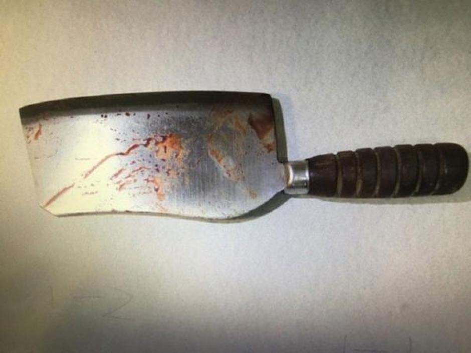 Este fue el cuchillo con el que lo atacó. (Foto: Infobae)