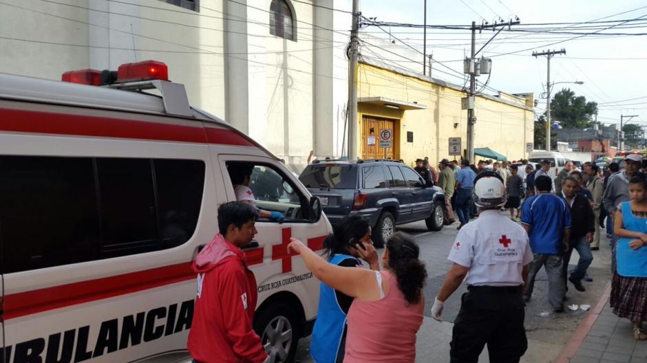 El incidente se produjo frente a UNAERC ubicado en la zona 1.  (Foto: @CRGuatemalteca)