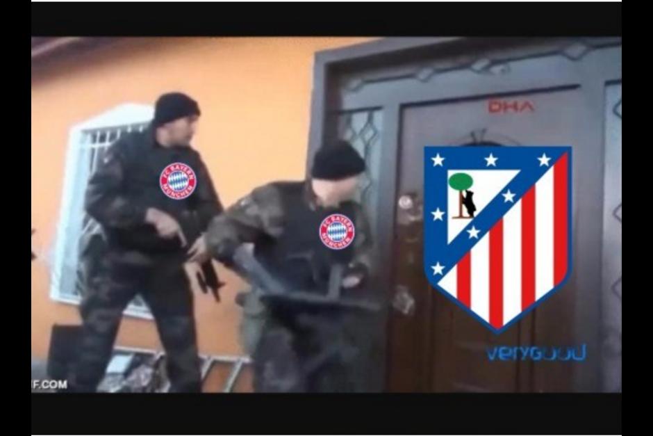 Así se reían las redes sociales del ataque del Bayern. (Foto: MemeDeportes)