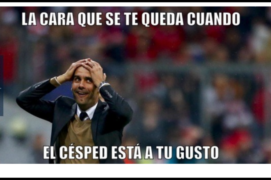 Pep Guardiola se despide así del Bayern. (Foto: MemeDeportes)