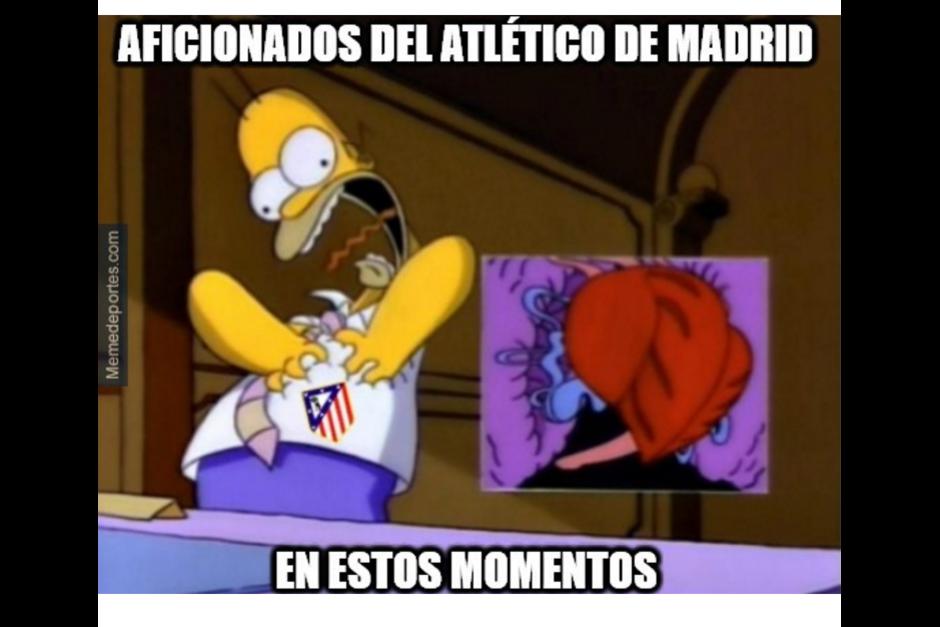 En un juegazo de fútbol el Atlético ganó al Bayern. (Foto: MemeDeportes)