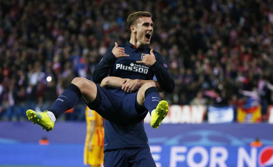 Griezmann festejó a todo pulmón el primer gol del Atlético. (Foto: deportes.elpais.com)