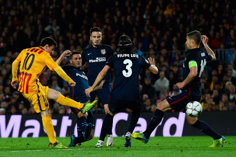 Messi estuvo cubierto durante todo el partido. (Foto: okdiario.com)