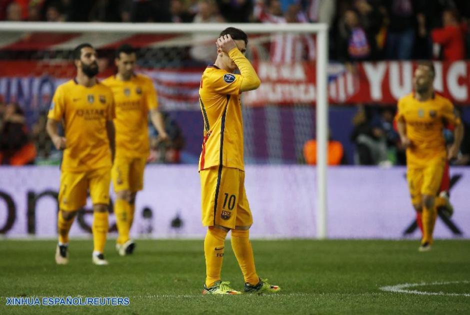 Lionel Messi estuvo bien marcado durante todo el partido, no marcó diferencia. (Foto: spanish.xinhuanet)