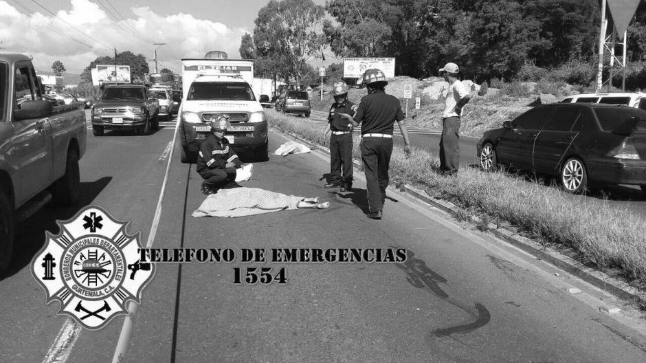 Dos adultos mayores fueron atropellados en el kilómetro 47 de la ruta Interamericana. (Foto: @CBMDEPTAL)