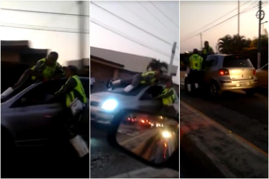 El incidente sucedió la tarde del jueves a escasos metros de la Universidad de San Carlos. (Captura Facebook)