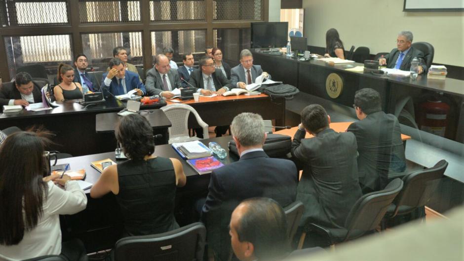 La audiencia de los otros implicados se desarrolla en el Juzgado B de Mayor Riesgo. (Foto: Wilder López/Soy502)
