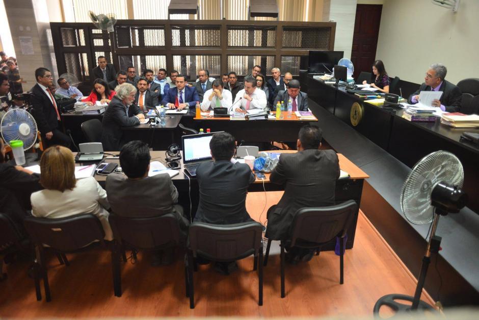 Los sindicados en el caso TCQ continúan en la audiencia de primera declaración. (Foto: Jesús Alfonso/Soy502)