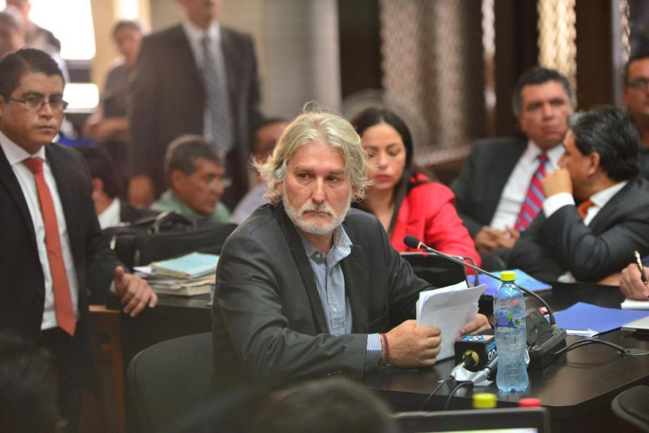 El español Juan José Suárez declara durante la continuación de audiencia de primera declaración. (Foto: Jesús Alfonso/Soy502)