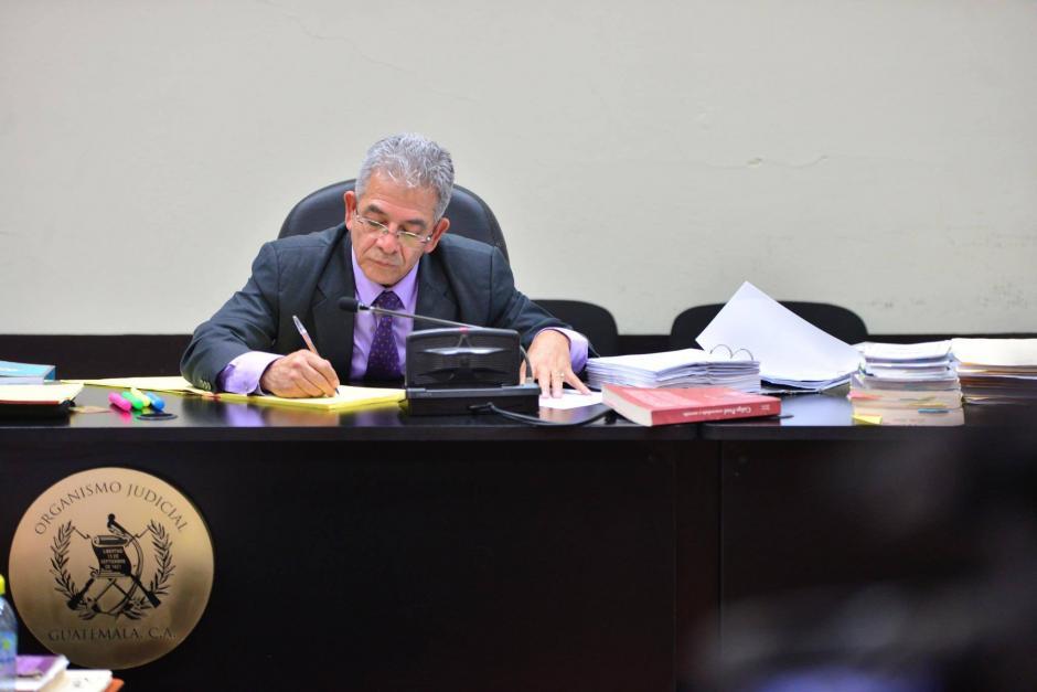 """El juez de Mayor Riesgo """"B"""" durante la audiencia de primera declaración por el caso TCQ. (Foto: Jesús Alfonso/Soy502)"""