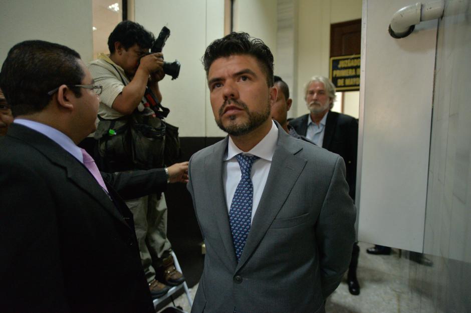 Jonathan Chévez fue llevado a la Torre de Tribunales por el caso TCQ. (Foto: Wilder López/Soy502)
