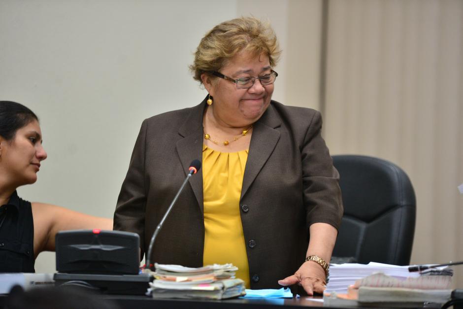 La jueza Marta Sierra de Stalling inició el proceso contra los detenidos. (Foto: Archivo/Soy502)