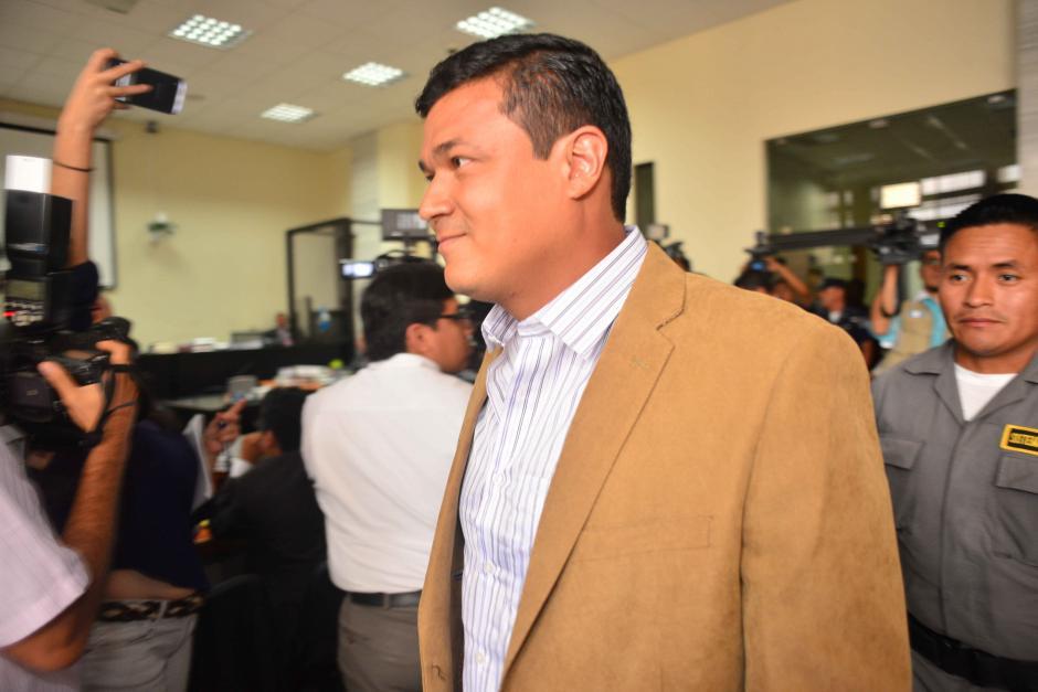 Jeffry Mendoza Matta se ha mostrado sonriente durante las audiencias. (Foto: Jesús Alfonso/Soy502)