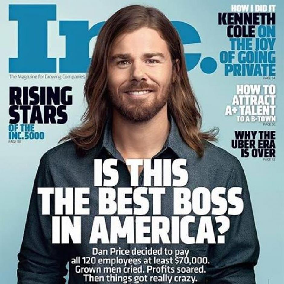 Dan Price saltó a la fama mundial al aumentar el salario de todos sus empleados. (Foto: INC)