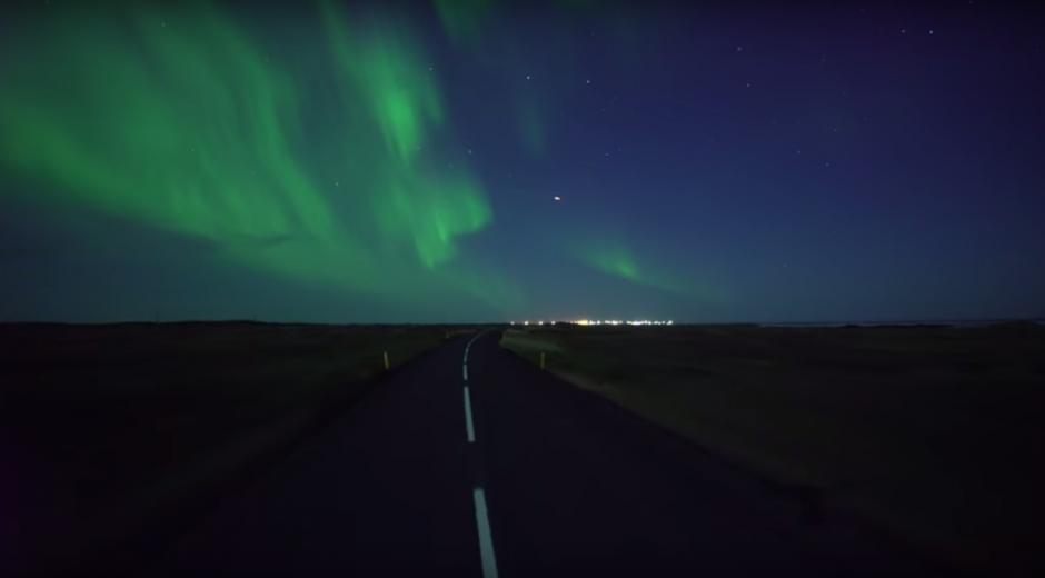 El video de la aurora boreal fue grabado en Islandia. (Imagen: captura de YouTube)