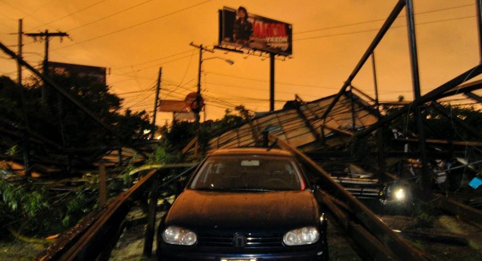Así se ve el lugar de los daños. (Foto: Byron de la Cruz/NuestroDiario)