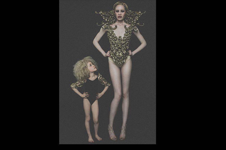 Ava ha participado con modelos profesionales. (Foto: TheAvaClarke.com)