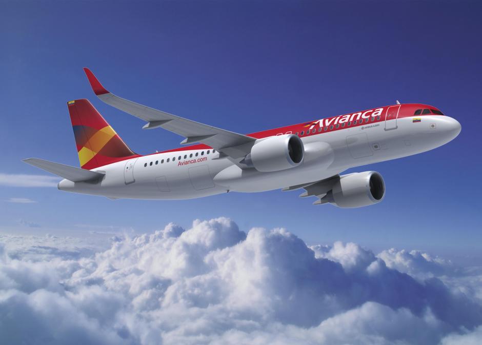 Avión de la compañía Avianca