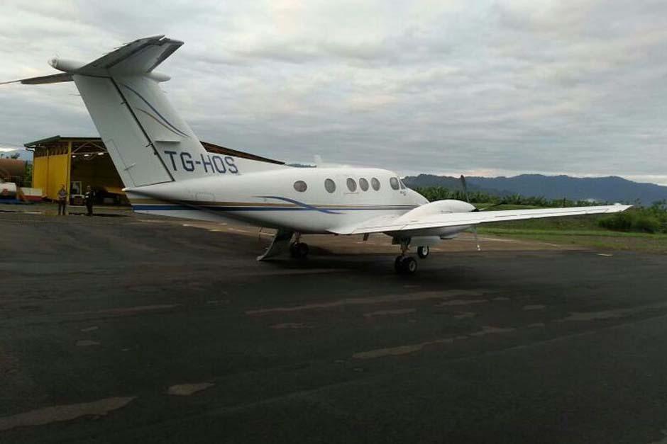 La nave aterrizó por falta de combustible en la provincia de Limón en Costa Rica.