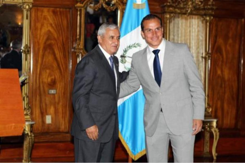 Conoció a Otto Pérez en 2007 y se hicieron muy amigos y así fue parte de su gabinete. (Foto: Soy502)