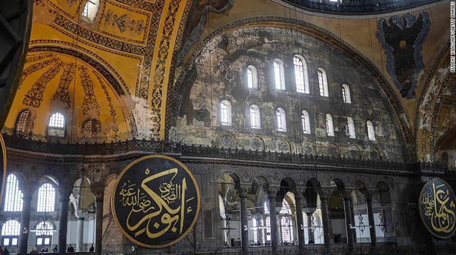 La edificación del Aya Sofía en Turquía tiene más de mil 500 años de antigüedad. Es una iglesia, mezquita y museo en la ciudad de Estambul.