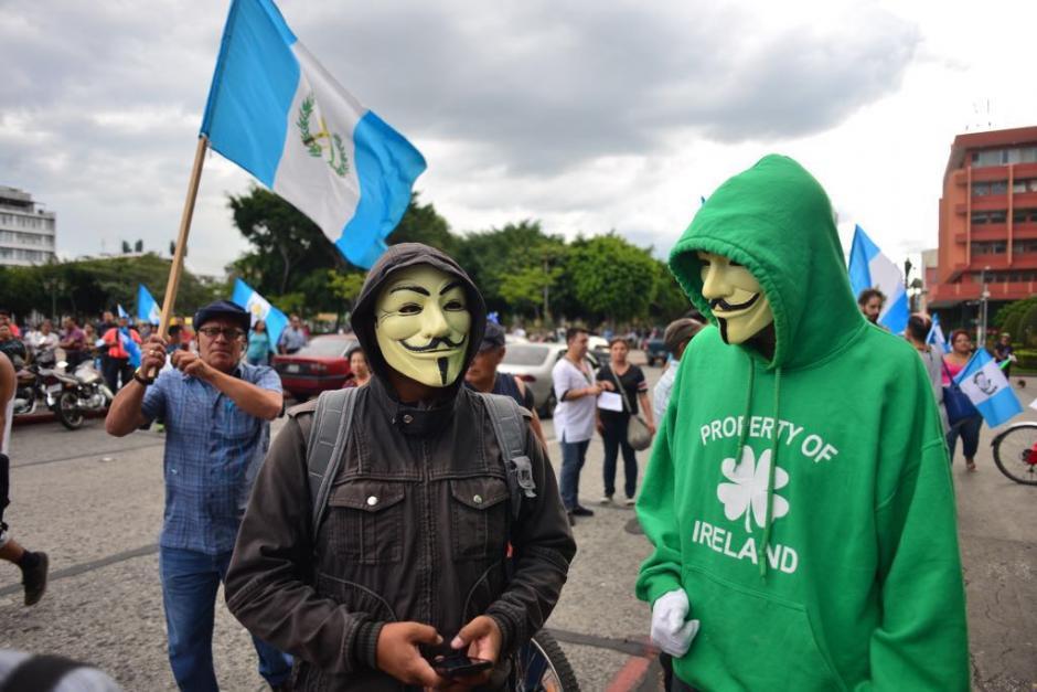 Algunos de los participantes portaron máscaras. (Foto: Jesús Alfonso/Soy502)
