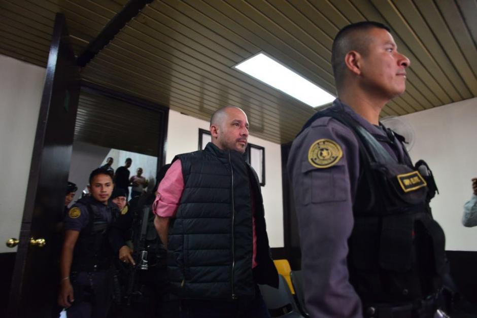 """Alias """"El Fantasma"""" fue capturado en Antigua Guatemala en abril y este 9 de agosto se presentó a Tribunales fuertemente custodiado. (Foto: Jesús Alfonso/Soy502)"""