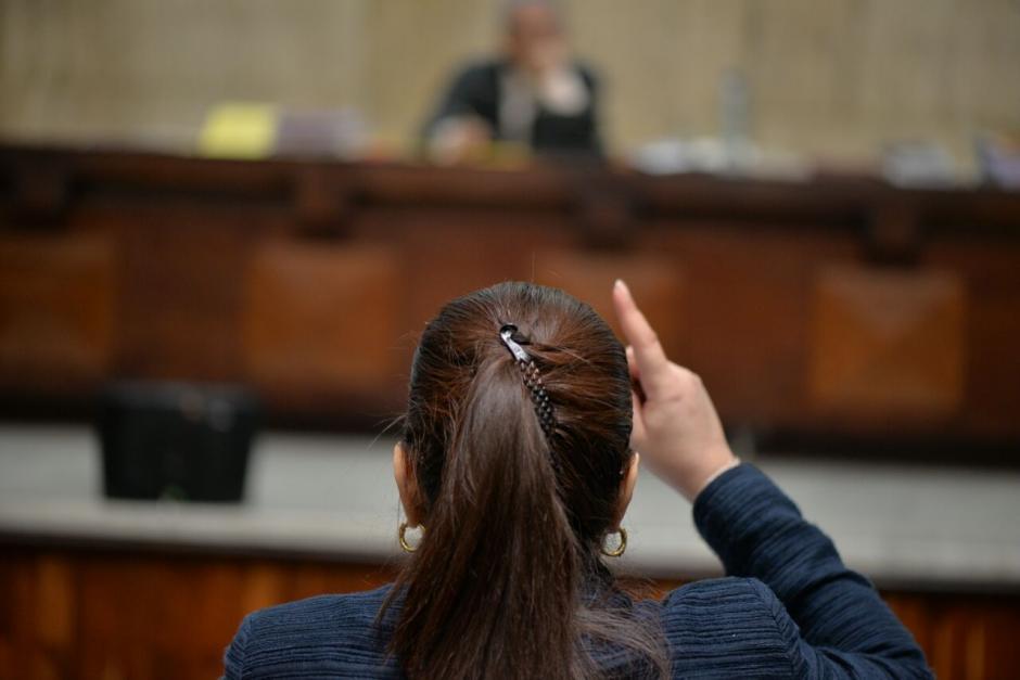 Roxana Baldetti se defendió de los señalamientos del MP. (Foto: Wilder López/Soy502)