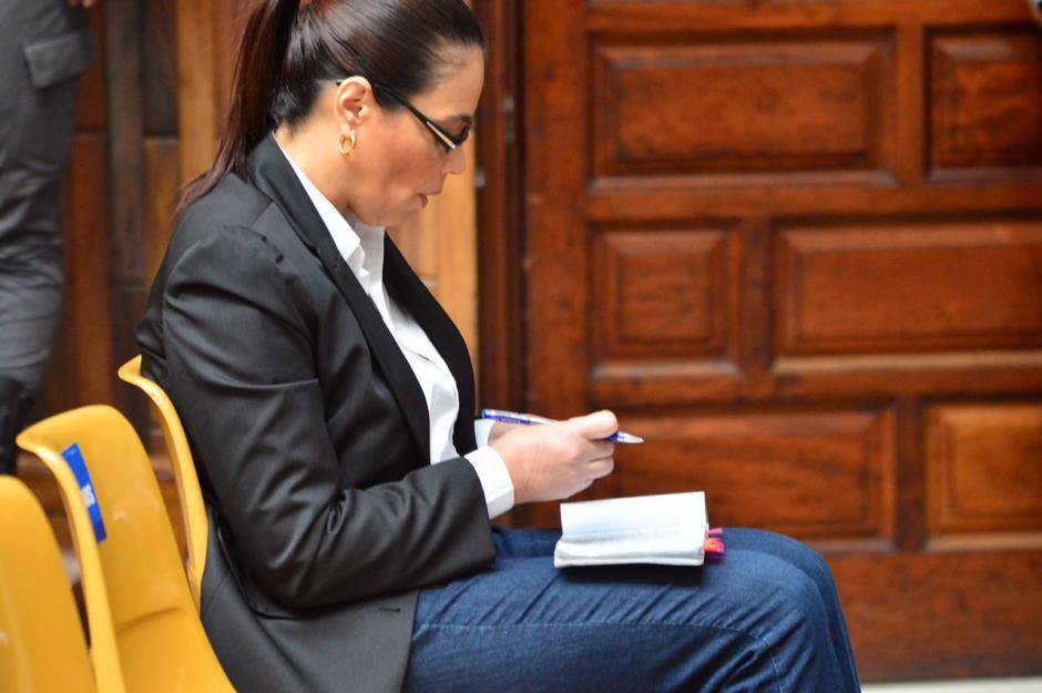 Roxana Baldetti en la audiencia del caso Cooptación del Estado. (Foto: Jesús Alfonso/Soy502)
