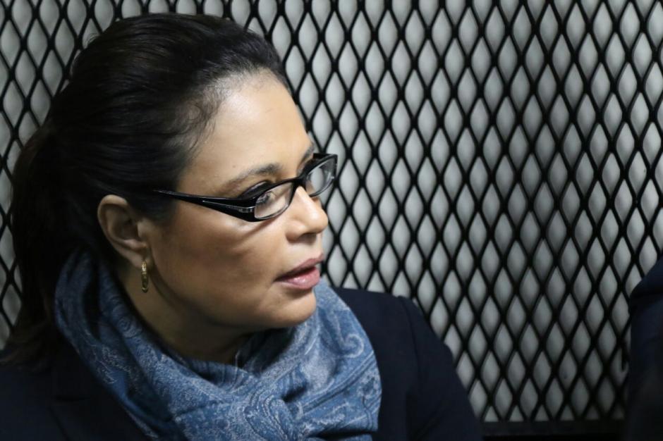 La exvicepresidenta Roxana Baldetti estuvo en Tribunales durante una audiencia donde se conocería si iría a juicio. (Foto: Alejandro Balán/Soy502)
