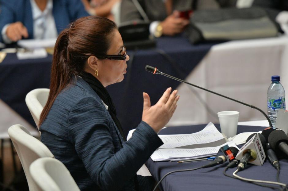 Dio una charla sobre lo que hizo en el gobierno. (Foto: Wilder López/Soy502)