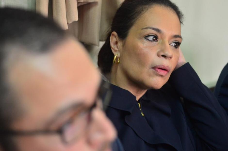 Roxana Baldetti, la exvicepresidenta, acude a Tribunales parasolicitar que sus bienes no sean motivo de embargo.(Foto: Wilder López/Soy502)