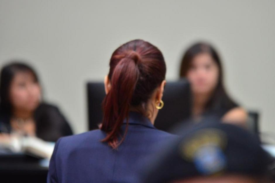 En la audiencia Baldetti dio sus datos personales al juez Miguel Ángel Gálvez. (Foto: Jesús Alfonso/Soy502)