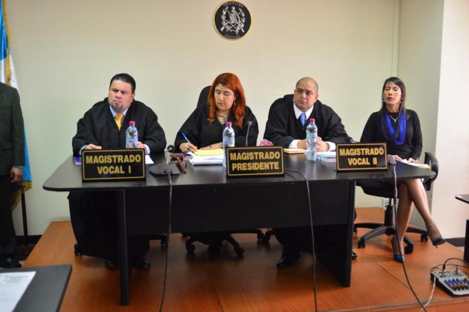 Estos son los magistrados de la Sala donde se lleva a cabo la audiencia. (Foto: Wilder López/Soy502)