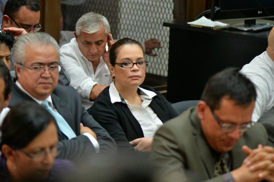 La exvicepresidenta Roxana Baldetti de nuevo en la sala de audiencias. (Foto: Wilder López/Soy502)